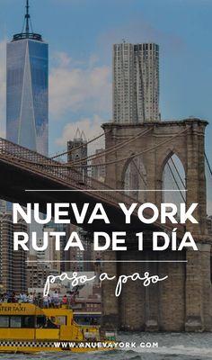Qué ver en Nueva York en 1 día. Ruta a pie por la ciudad paso a paso. #NuevaYork New York Vacation, New York Travel, New York 2017, Nyc Instagram, Canada, Work Travel, Willis Tower, Brooklyn Bridge, Where To Go