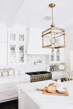 White kitchen - so bright & clean