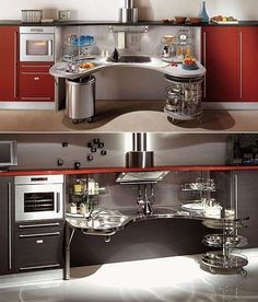 Wheelchair friendly kitchen design by Skyline Lab