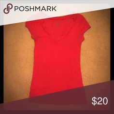 Red Top by Decree Pretty, vibrant red top by Decree. Lovingly worn, still in great condition. No rips, tears or stains. Great addition to any wardrobe. Decree Tops Blouses