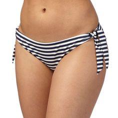 959c2e872a4b1 Debenhams Gorgeous Navy Striped Tie Side Bikini Bottoms Size UK 12 DH086 JJ  12 #fashion