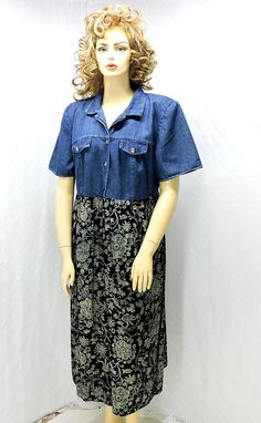 97663c90e7 Vintage grunge 80s   90s maxi dress   plus size 1X   2X   18