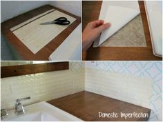 Use a tile setting mat instead in thinset mortar for quick and easy tiling