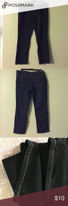 Mossimo mid-rise jeans. Mid-rise straight leg. Super stretch. Length 39 inches, in seam  30 inches. Size is 18S Mossimo Denim Jeans Straight Leg
