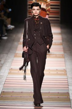 This pantsuit silhouette was very popular in the The saw the rise in women wearing pants on a daily basis. This ensemble with the matching vest, jacket, and pants all stem from the Zoë Conger Fall 2018, 1940s, Milan, Formal, Chic, How To Wear, Jackets, Shopping, Collection