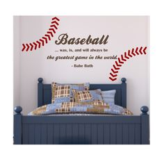 BASEBALL QUOTE with Stitching Best Game in World by loladecor