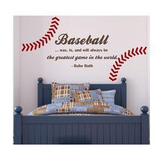 Baseball wall. This would be soooooo cool to do with like a ...