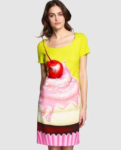 Vestido de mujer Boutique Moschino con estampado de cupcake