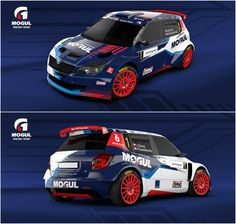 Design and wrap of Škoda Fabia for Mogul Racing Team who will compete with driver Jan Černý and his co-driver Petr Černhoroský Sport Cars, Race Cars, Car Competitions, Car Paint Jobs, Skoda Fabia, Car Tuning, Racing Team, Rally Car, Car Wrap