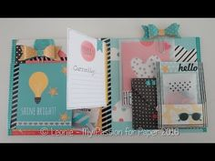 Carpe Diem Snail Mail Flipbook ~ Diemond Dies DTP - YouTube