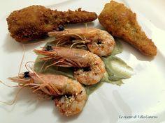 Mazzancolle croccanti al sesamo con salsa di carciofi #mazzancolle #carciofi #appetizers #antipasto #gialloblogs #lericettedivillacatervo
