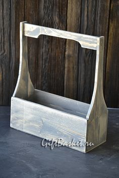 """Ящик для цветов """"Кострома"""" цвет серый (270х140х95хН310), арт.7779 Wooden Tool Boxes, Wooden Basket, Wooden Containers, Wood Boxes, Wooden Lanterns, Wicker Tray, Small Wood Projects, Woodworking Projects That Sell, Pallet Creations"""