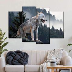 Timber Wolf Multi Panel Canvas Wall Art