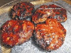 Grilled Meatloaf Patties from Janet's Appalachian Kitchen