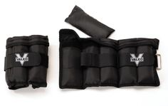 Valeo Adjustable Ankle/Wrist Weights - 5 lbs Total (2.5 lbs each), 1 Size Fits Most. Two 2.5 pound adjustable weights for your ankles or wrists. Self-gripping closure for easy removal of weight packs. With adjustable metal D-ring double-strap closure system for a comfortable fit. Padded for comfort.