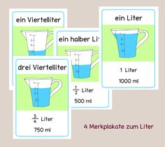 In the class is indeed the liter and even if it is specific to us . Primary Education, Primary School, Special Education, Teaching Kids, Kids Learning, Scientific Notation, German Grammar, Math Measurement, German Language Learning