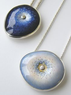 Ruth Ball - Enamel necklaces