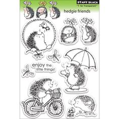 AmazonSmile: Penny Black Clear Stamps Sheet, 5 by 7.5-Inch, Hedgie Friends: Arts, Crafts & Sewing