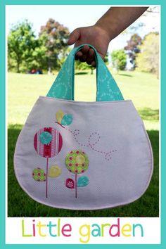 Naaipatroon van de Little Garden tas