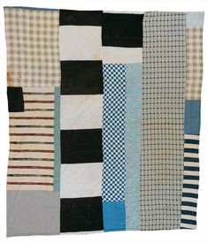 "Work by ALLIE PETTWAY | Two-sided quilt: ""Pinwheel"" variation, and blocks and strips 