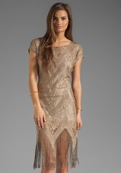 ONLY HEARTS Lady Day Shift Dress in Antique Gold at Revolve Clothing - Free Shipping!
