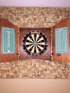 Wine cork dart board back board