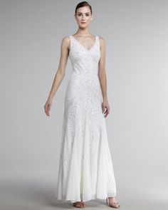 8c80e41e5af Aidan Mattox V-Neck Long-Torso Gown. Long TorsoAidan MattoxEvening  GownsNeiman MarcusV ...