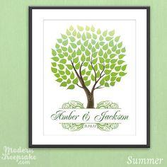 Summer - Personalized Seasonal Wedding Tree by PERSONALIZEDprints, $38.00