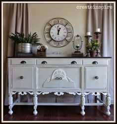antique buffet in coquille, how to, painted furniture, repurposing upcycling, shabby chic Decor, Furniture, Furniture Makeover, Home, Home Furniture, Painted Furniture, Redo Furniture, Home Decor, Old World Furniture
