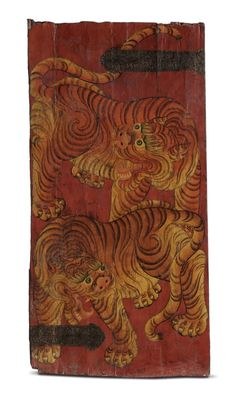 The Earth installation in the Jaya He Museum, conceived by #Rajeev Sethi has a composition of 64 tiger doors from North East India, this is one such door. Doors of Buddhist prayer rooms are painted and more often with tigers as it symbolises unconditional confidence, disciplined awareness, fearlessness and power.