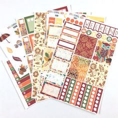 Fall Planner Stickers Autumn Planner by ShopStickerpalooza on Etsy