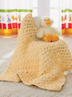 Puffy Baby Blanket - Super Buky Weight (6) [ Free Crochet Pattern ]