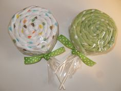 Gender Neutral Baby Gift 2 Receiving Blanket Lollipops Twin Neutral via Etsy