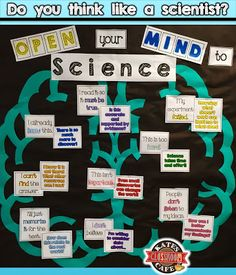 "Science Mindset Bulletin Board I heard a ""ting"" during my most challenging class today and was reminded that I had yet to check my inbox. So, after the students scurried out the door, I sat down to c"