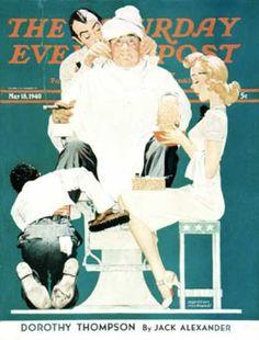 "Saturday Evening Post - 1940-05-18: ""Full Treatment"" (Norman Rockwell)"