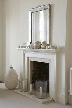 A simple white fireplace White Fireplace, Fireplace Mantle, Fireplace Surrounds, White Mantel, Propane Fireplace, Classic Fireplace, Fireplaces, Fashion Design Inspiration, Room Deco