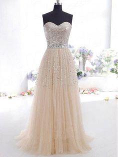 Custom Beach Cheap Sweetheart Sheer Beaded floor-length Long Prom dresses/Evening dress/Homecoming/Bridesmaid/Formal Dress 2014 New Arrival