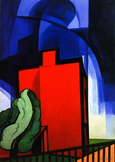 Oscar Bluemner (1867-1938) was a German-born American Modernist painter. In 1903, he created the winning design for the Bronx Borough Courthouse although it is credited to Michael J. Garvin. The scandal took down borough president Louis Haffen for corruption and fraud. He exhibited in the 1913 Armory Show. Then in 1915 Stieglitz gave him a solo exhibition at his gallery, 291. Despite participating in several exhibitions & solo shows, for the next 10 years financially unsuccessfully.