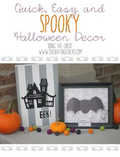 Some super easy, quick, and spooky Halloween decor ideas using the Cricut!