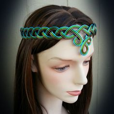 BRAIDED Celtic Circlet Hand Wire Wrapped by RefreshingDesigns.etsy.com Choose your own colors. Arwen Crown