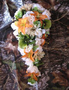 mossy oak camo wedding reception decorations | Wedding Flowers, Baby Showers & More: Camo Wedding Flowers & Ribbon