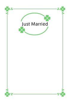 縦/6(クローバー)/1-3お花と季節のお礼状/結婚報告はがき-Wedding post card- <縦>
