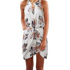 Pyjamas, Mode Unique, Trendy Dresses, Floral Dresses, Comfy Dresses, Mini Dresses, Summer Dresses, Online Dress Shopping, White Mini Dress