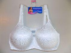 NWT 46DD Playtex Women's bright white bra Balconette Underwire  #Playtex #Balconettes