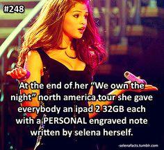 Selena Fun Fact. Luckys!!❤️❤️❤️❤️❤️