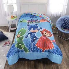 PJ Masks Kids Bedding Soft Microfiber Reversible Comforter Twin/Full x Blue