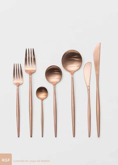 Rose Gold Flatware // Casa de Perrin