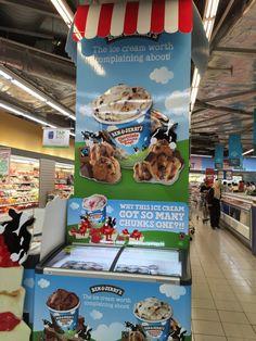 Ben & Jerry's Ice Cream Supermarket Pillar Display