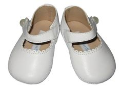 Elephantito *BABY MARY JANES* Soft Sole White