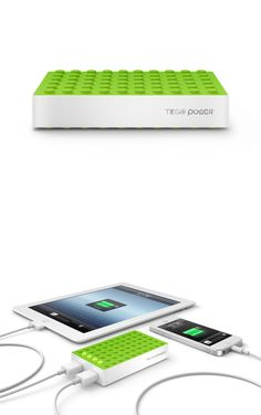 PowerGrid Charger - rechargeable external battery for smartphones and tablets.